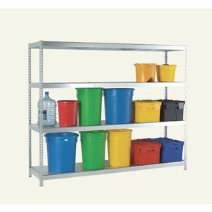 Heavy duty galvanised steel boltless shelving - 400kg - Extra shelves