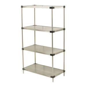 Metro Super Erecta ® solid stainless steel shelving - 4 shelves