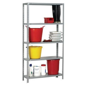 Bolted steel shelving with metal shelves- 100kg - Painted steel