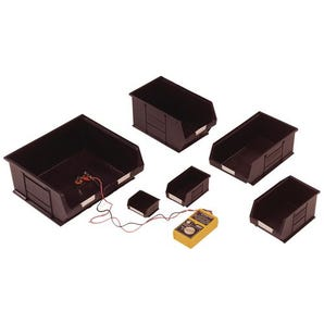 Black conductive storage bins - ESD safe