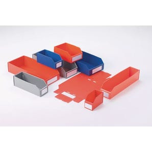 Twin walled polypropylene bins - 100mm height