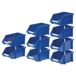 Bins with supports