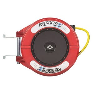 Polypropylene spring rewind hose reels for air & water for air/water
