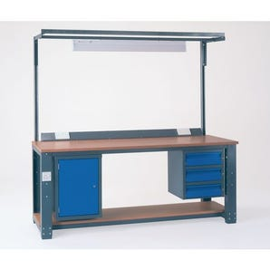 Large assembly workbenches - Starter workbench - with lower shelf