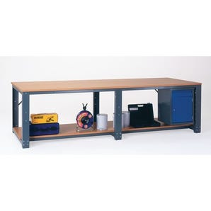 Large assembly workbenches - Add on workbench - with lower shelf
