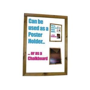 Dark oak poster holder & chalkboard