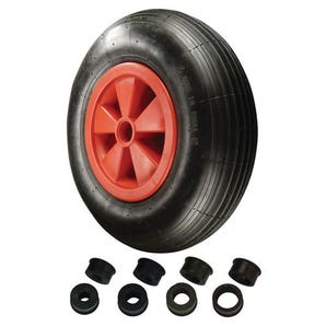 Replacement wheelbarrow wheels - polyurethane centre