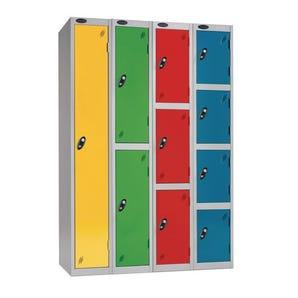 Probe coin operated coloured door premium lockers - Coin retain