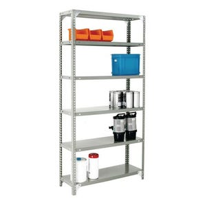 Bolted open access steel shelving - up to 100kg