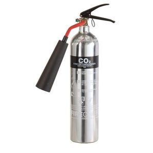 Polished CO2 fire extinguishers
