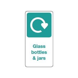 Vinyl recycling labels on a roll