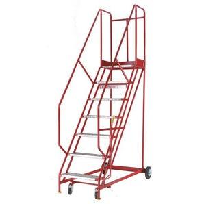 Heavy duty warehouse steps - Aluminium tread