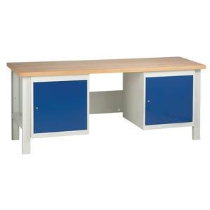 Medium duty workbenches - Workbench with 2 cupboards