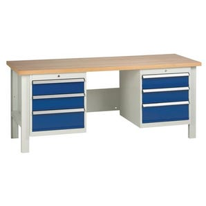 Medium duty workbenches - Workbench with 2 triple drawer units