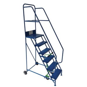 Industrial warehouse mobile steps