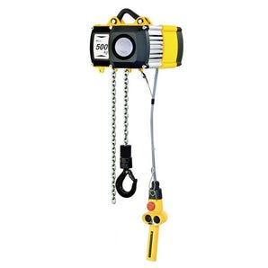Electric chain hoists - With push trolley
