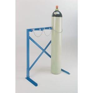 Floor standing gas cylinder racks
