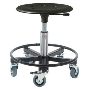 Industrial work stools - Plastic moulded seat