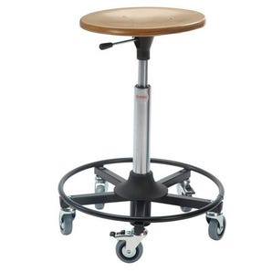 Industrial work stools - Wood moulded seat