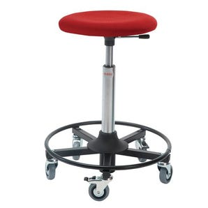 Industrial work stools - Upholstered seat