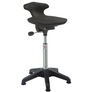 Industrial sit/stand stools - Soft PU moulded seat