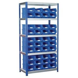 Regular bin shelving kits