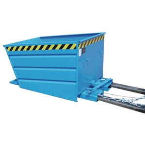 Automatic tipping skips/containers