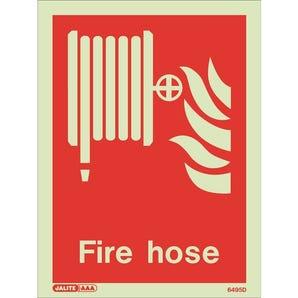 Photoluminescent Fire hose location sign