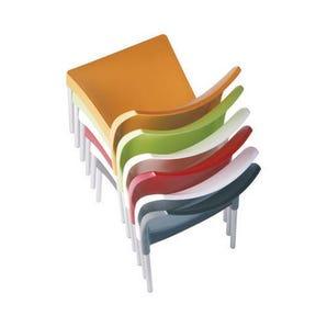 Polypropylene and aluminium chairs