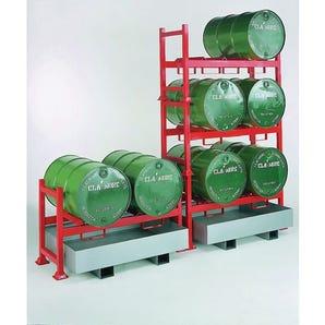 Stackable drum racks & sump