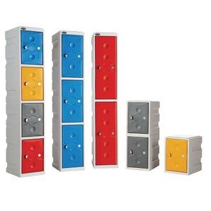 Full height plastic lockers