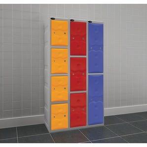 Full height weatherproof plastic lockers
