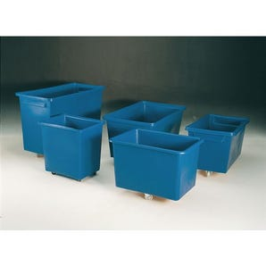 Tapered container truck lids