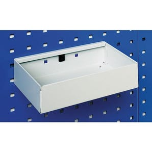 Metal tray shelves