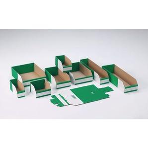 Fibreboard bins, 100mm height