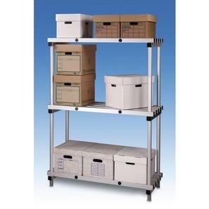 Anodised aluminium shelving - Extra Shelves