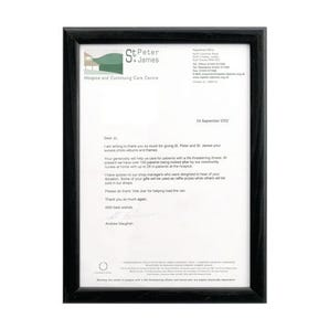 Black wood finish A4 certificate frames