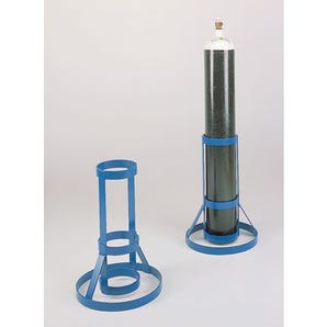 Open frame gas cylinder stands
