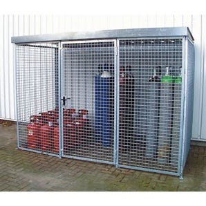 Gas cylinder storage - Cage without roof