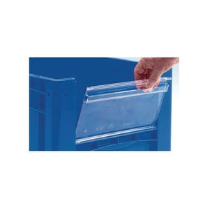 Large open fronted picking and storage bins - Insertable windows