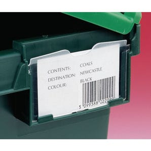 Attached lid containers - Label holder