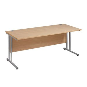 Traditional straight desk with deluxe cantilever leg