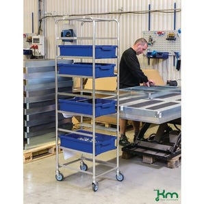 Konga Euro container / tray trolleys