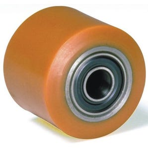 Pallet truck rollers - nylon centre, polyurethane tyre