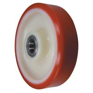 Pallet truck steering wheels - nylon centre, polyurethane tyred