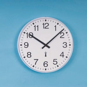 Low maintenance commercial wall clock