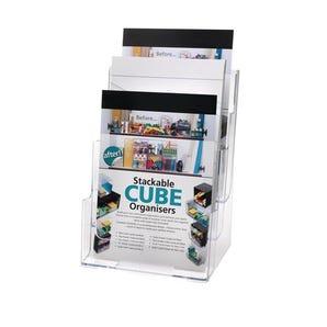 Basic clear desktop leaflet dispeners