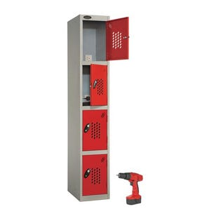 Probe tool charging locker