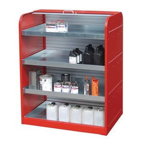 Roller cabinet with sump