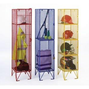 Midi-size wire mesh lockers